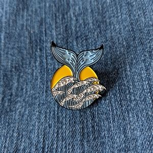 *New* Whale Tail Pin with Sun